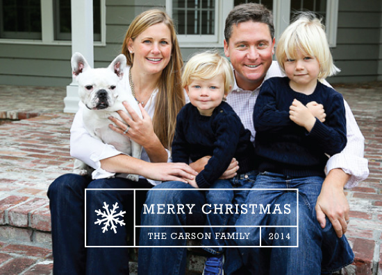 holiday photo cards - title block by design market