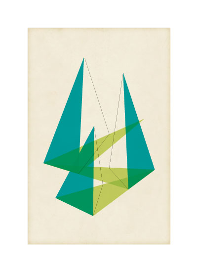 art prints - Triangulation Series Shadow by Jennifer Morehead
