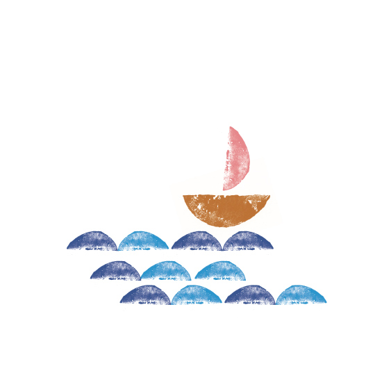 art prints - sailboat in the sea by Magdalena Earnest
