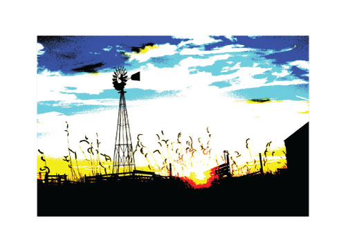art prints - Good Night Prairie by Sheva Willoughby