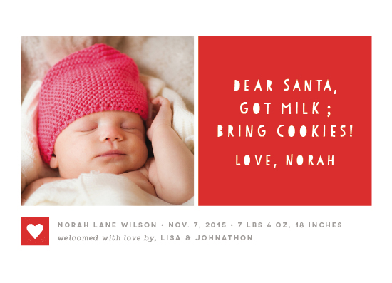 holiday photo cards - Santa Bring Cookies! by Snow and Ivy