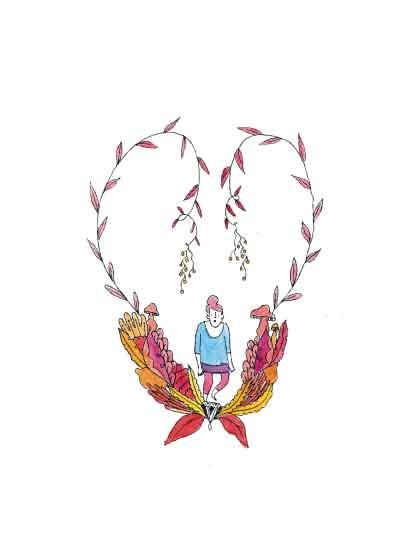 art prints - Girl Wanderer by Clare Forrest