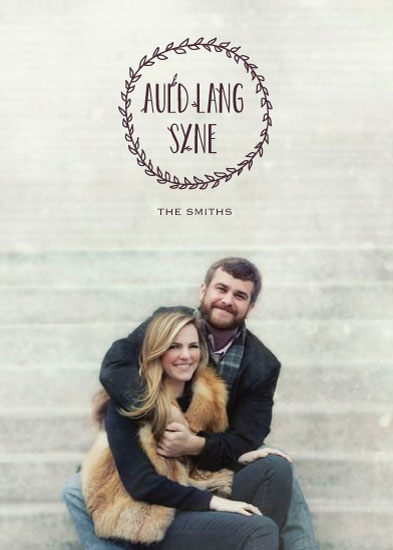 holiday photo cards - Auld Lang Syne by Leila Rookstool