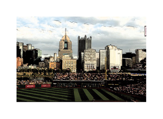art prints - Pittsburgh Pirates View by Trisha Goldstrom