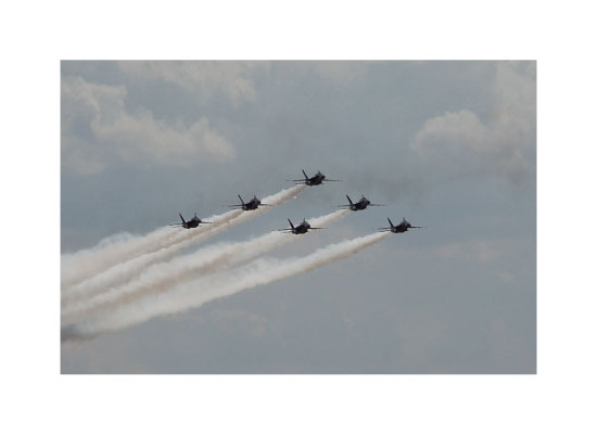 art prints - Blue Angels formation by Trisha Goldstrom