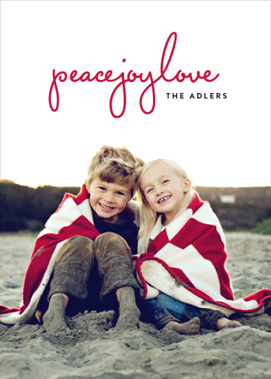 holiday photo cards - preppy peacejoylove by Hooray Creative