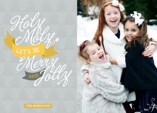holiday photo cards - Holy Moly lets be Merry and Jolly by Roberta Galea