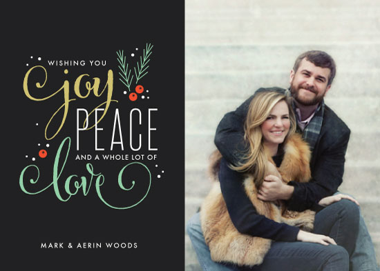 holiday photo cards - Peaceful Wish by Jessica Williams