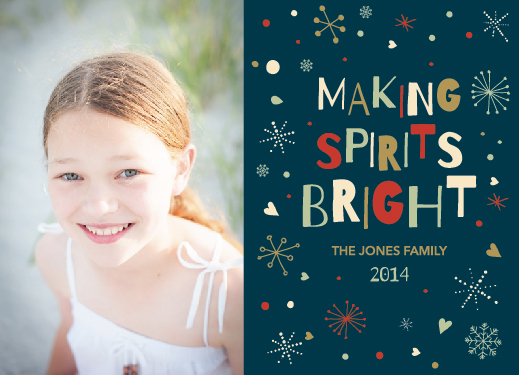 holiday photo cards - Retro Spirits Bright by Brittney Givens