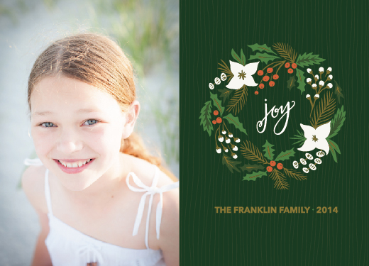 holiday photo cards - Joy to the Wreathe by Brittney Givens