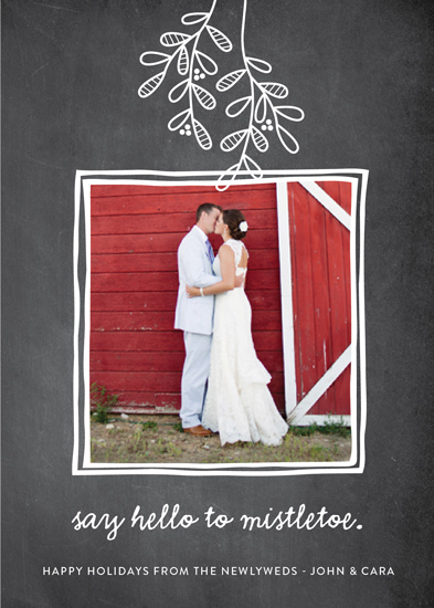 holiday photo cards - Hello to Mistletoe by Erica Krystek