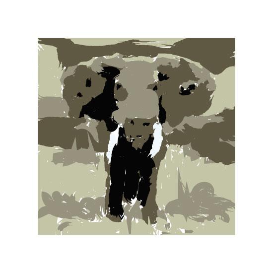 art prints - Elephant by Cassie Bretz