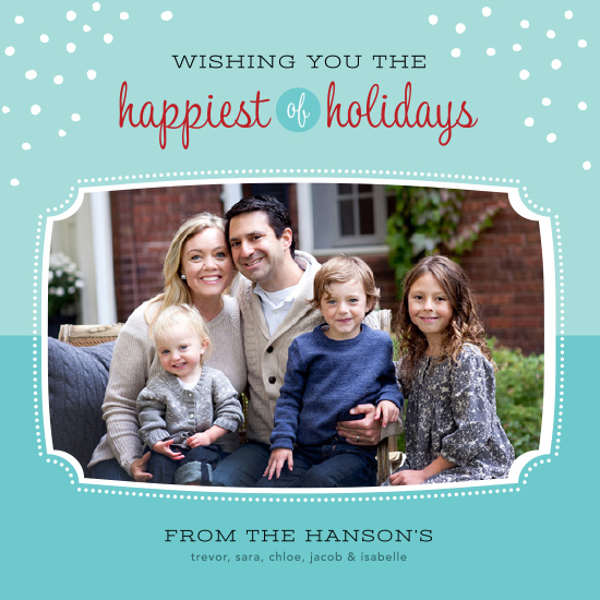 holiday photo cards - Happiest Wishes by Morgan Newnham