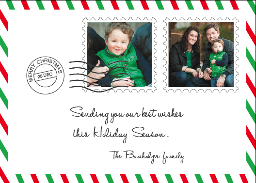 holiday photo cards - santa's mail by joelle riachi