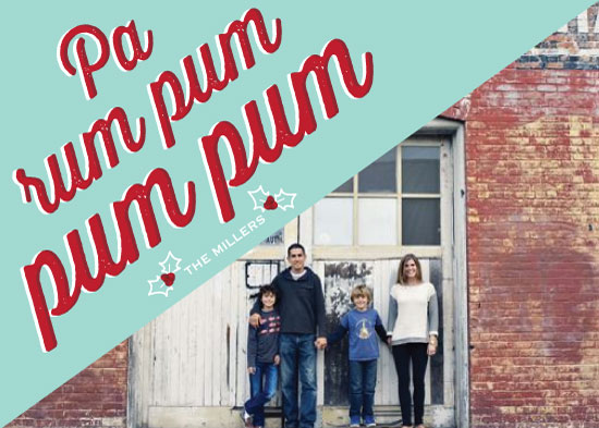 holiday photo cards - Pa Rum Pum by Leila Rookstool