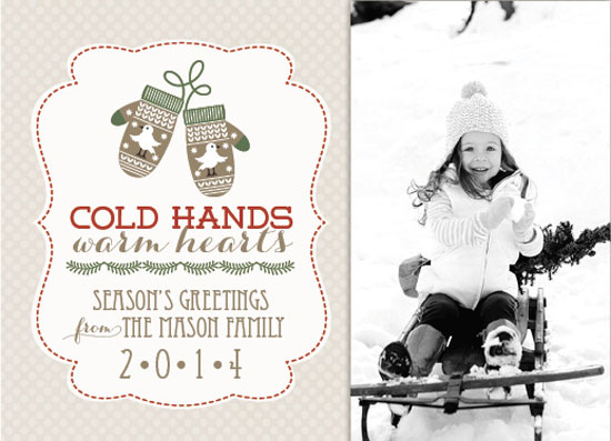 holiday photo cards - Cold Hands Warm Hearts by Courtney Thompson