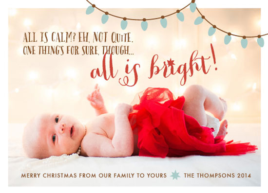 holiday photo cards - Lively and Bright by Courtney Thompson