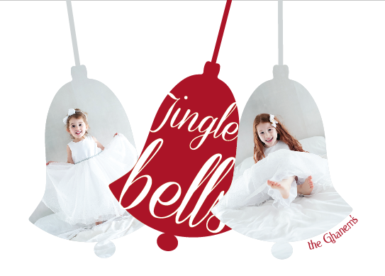 holiday photo cards - jingle bells, jingle bells by joelle riachi