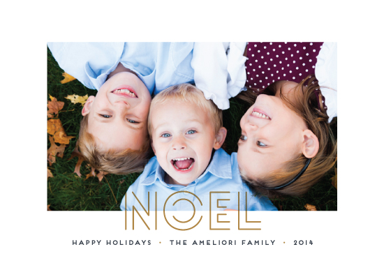 holiday photo cards - Cool Noel by Up Up Creative