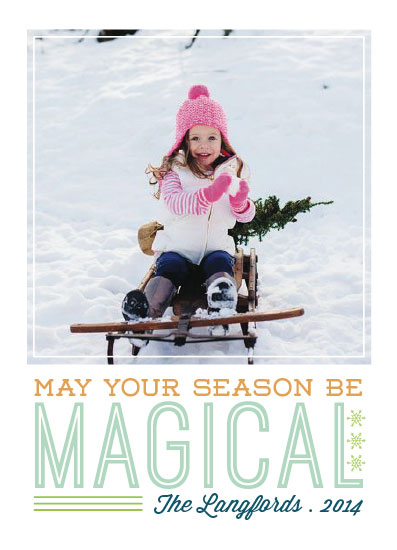 holiday photo cards - seasonal magic by freckle fish