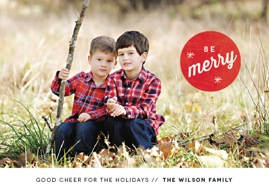 holiday photo cards - Merry Spot by Bonjour Berry