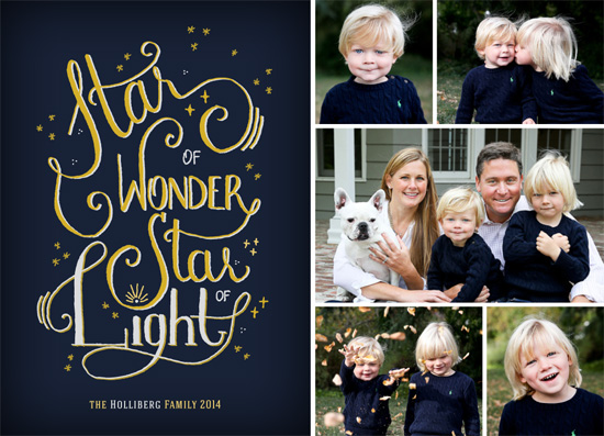 holiday photo cards - Star of Wonder by Yvette Slaney