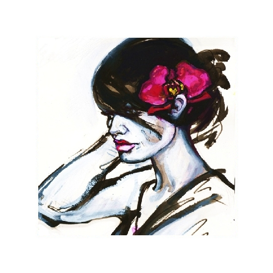art prints - Orchid In Her Hair by Charis