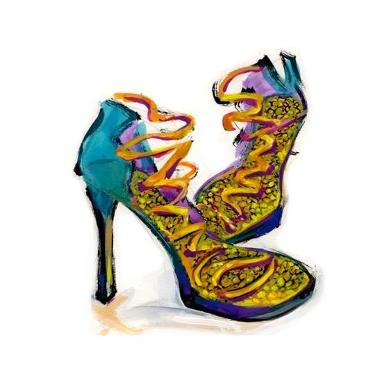 art prints - High Heels Fashion Illustration by Charis