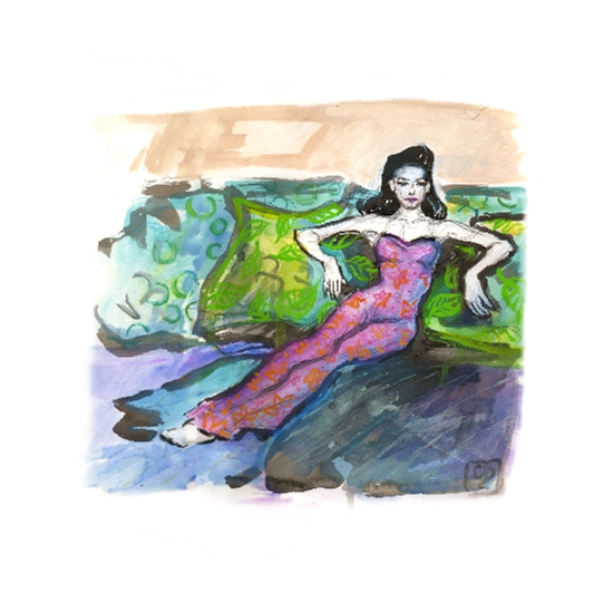art prints - Lounging by Charis