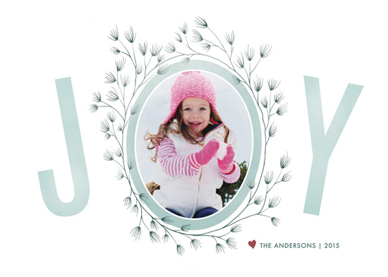 holiday photo cards - Wreathed in Joy by An-Lon Chen