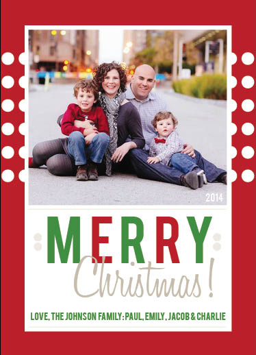 holiday photo cards - BrightlyMerry by Christie Ness
