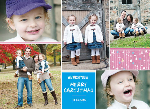 holiday photo cards - PrettyinPink by Christie Ness