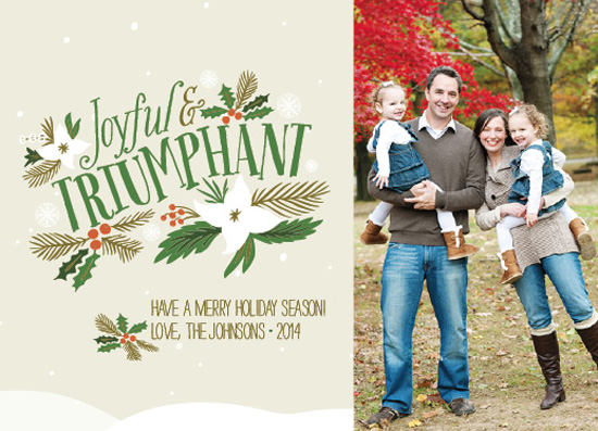 holiday photo cards - Joyful And Triumphant by Courtney Thompson