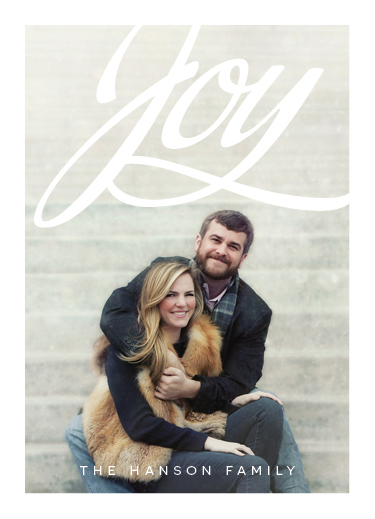 holiday photo cards - Holiday Joy by Bonnie Kate Wolf