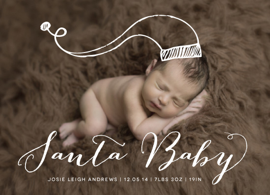 holiday photo cards - Santa Baby by Leah Bisch