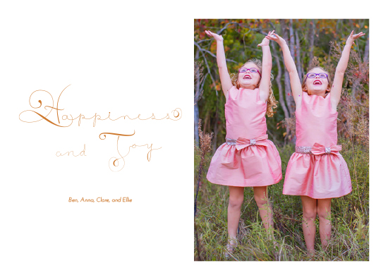 holiday photo cards - Happiness and Joy by Bonnie Kate Wolf