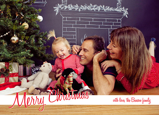 holiday photo cards - Merry Christmas in a Script by Bonnie Kate Wolf