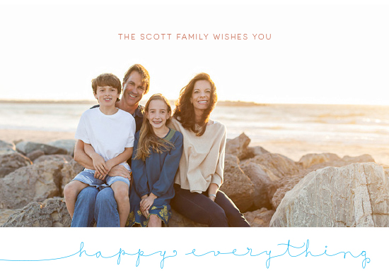 holiday photo cards - Wishing You Happy Everything by Bonnie Kate Wolf