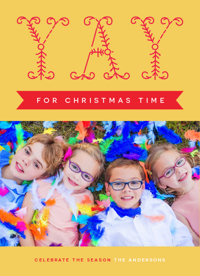 holiday photo cards - Yay For Christmas Time by Bonnie Kate Wolf