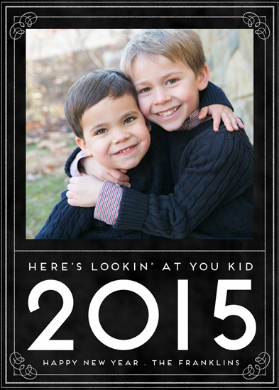 holiday photo cards - Here's Lookin' at You Kid by Emily Abramson