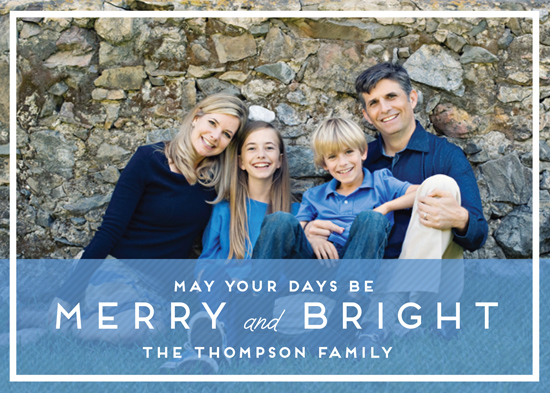 holiday photo cards - May Your Days by Emily Abramson