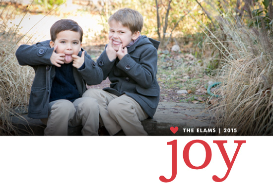 holiday photo cards - Love and Joy by Kim Dietrich Elam