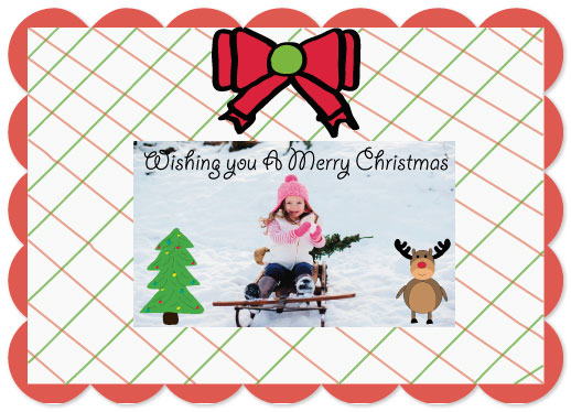 holiday photo cards - Holly Jolly Christmas by Kristin