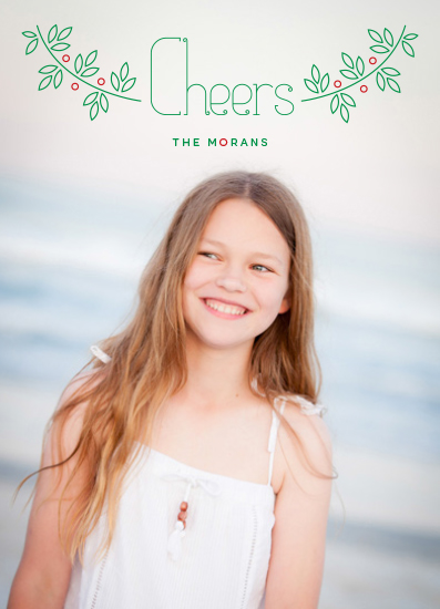 holiday photo cards - Holly Cheers by Bonnie Kate Wolf