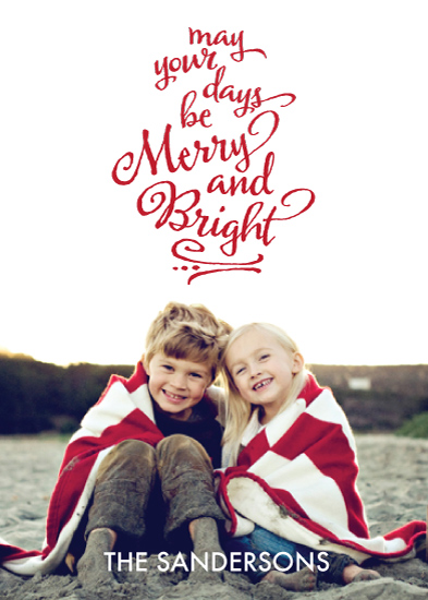 holiday photo cards - bright christmas by Emily Abramson