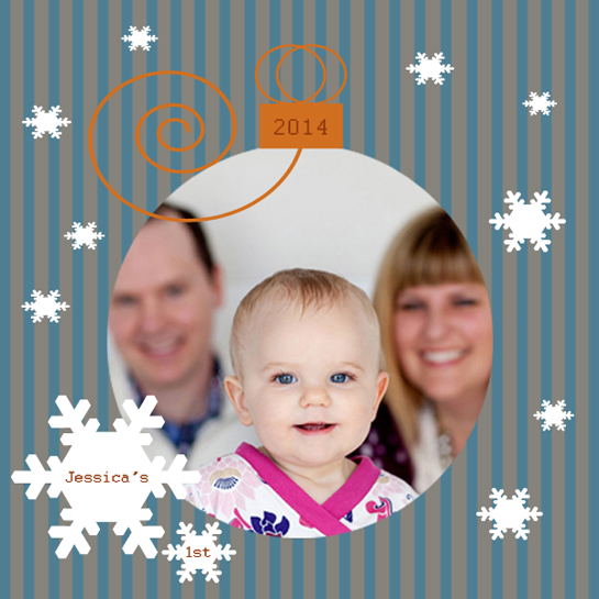holiday photo cards - A First by Debra Pruskowski