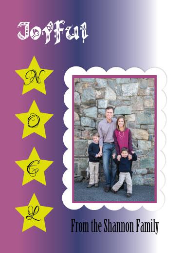 holiday photo cards - Joyful Noel by Jessica Sunday