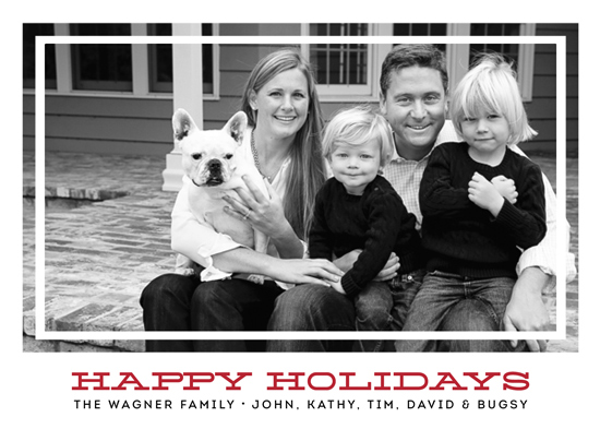holiday photo cards - Happy Holidays 2014 by Emily Abramson