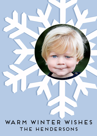 holiday photo cards - Warm Winter Wishes by Emily Abramson