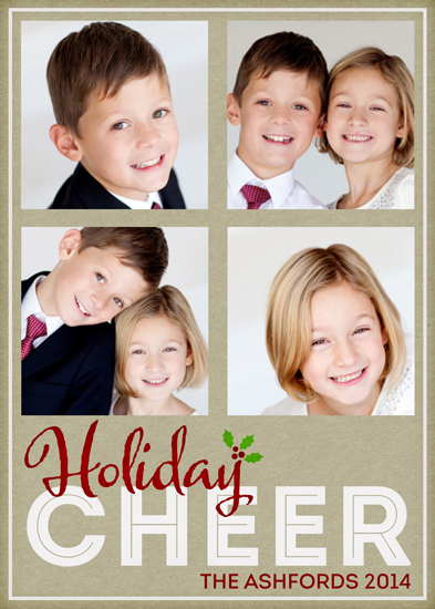 holiday photo cards - Holiday Cheer 2014 by Emily Abramson